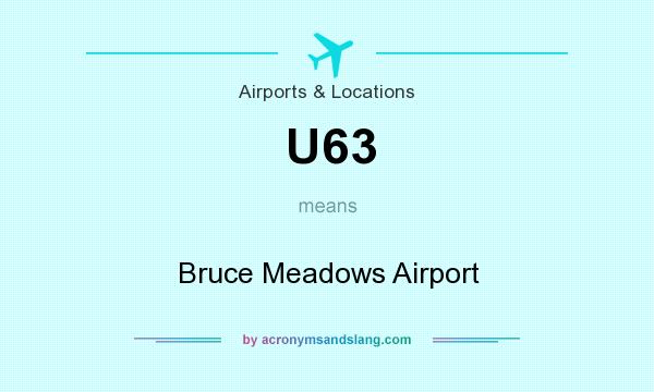 What does U63 mean? It stands for Bruce Meadows Airport
