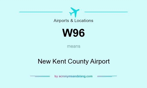 What does W96 mean? It stands for New Kent County Airport