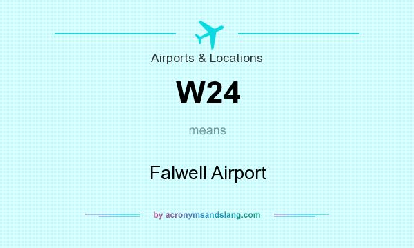 What does W24 mean? It stands for Falwell Airport