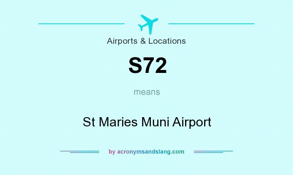 What does S72 mean? It stands for St Maries Muni Airport