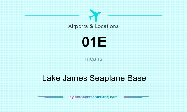 What does 01E mean? It stands for Lake James Seaplane Base