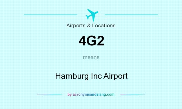 What does 4G2 mean? It stands for Hamburg Inc Airport