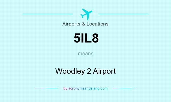 What does 5IL8 mean? It stands for Woodley 2 Airport