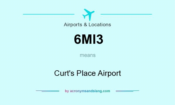 What does 6MI3 mean? It stands for Curt`s Place Airport