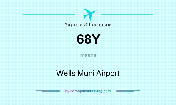 What does 68Y mean? It stands for Wells Muni Airport