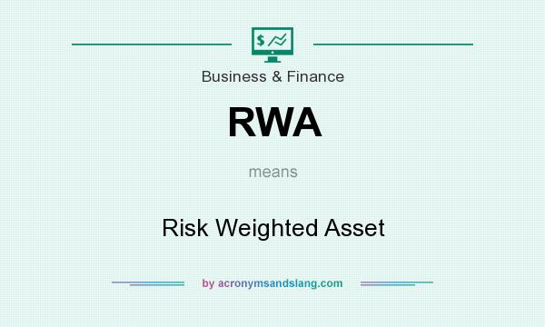 What does RWA mean? It stands for Risk Weighted Asset