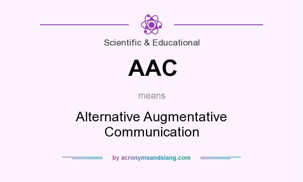What does AAC mean? It stands for Alternative Augmentative Communication