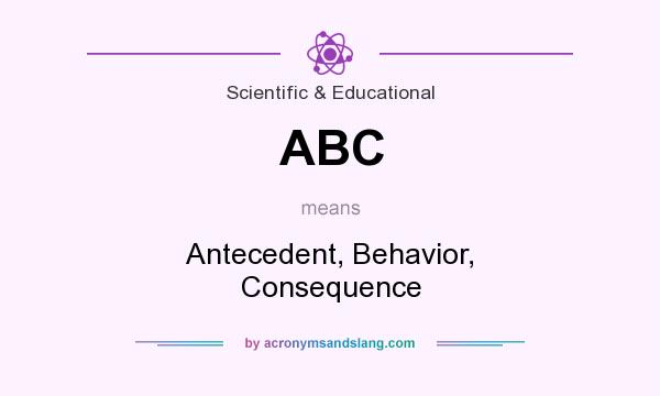 What does ABC mean? It stands for Antecedent, Behavior, Consequence