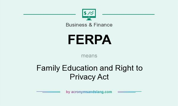 What does FERPA mean? It stands for Family Education and Right to Privacy Act