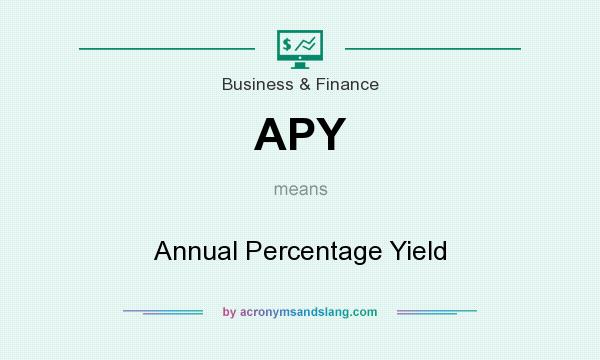 What does APY mean? It stands for Annual Percentage Yield