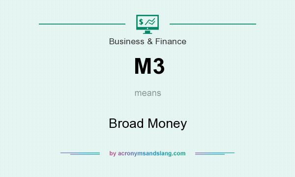 What does M3 mean? It stands for Broad Money