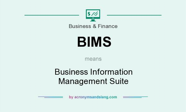 What does BIMS mean? It stands for Business Information Management Suite