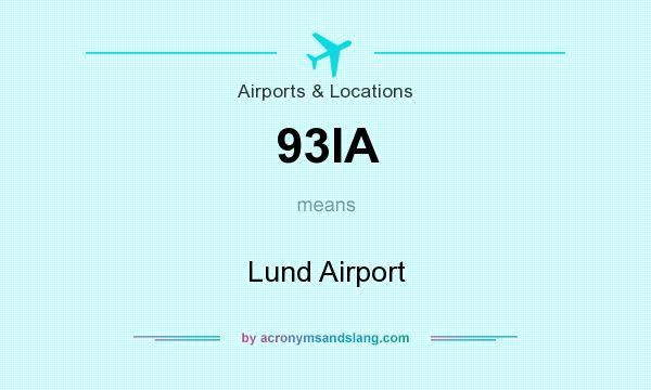What does 93IA mean? It stands for Lund Airport