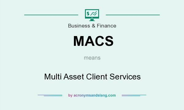 What does MACS mean? It stands for Multi Asset Client Services
