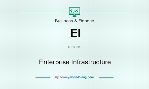 What does EI mean? It stands for Enterprise Infrastructure
