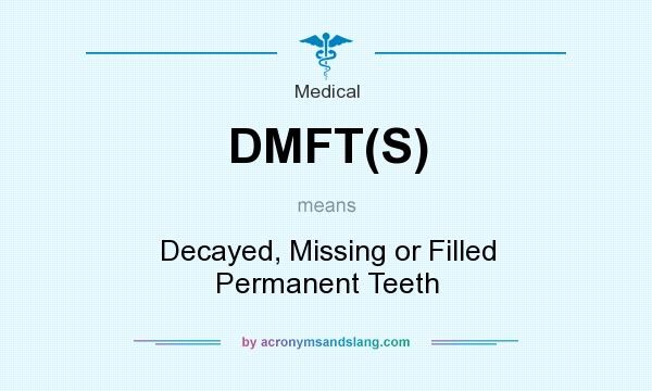 What does DMFT(S) mean? It stands for Decayed, Missing or Filled Permanent Teeth