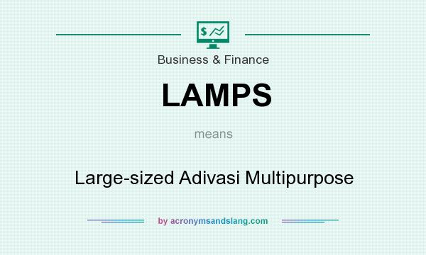 What does LAMPS mean? It stands for Large-sized Adivasi Multipurpose