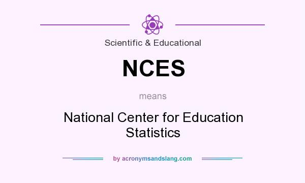 What does NCES mean? It stands for National Center for Education Statistics