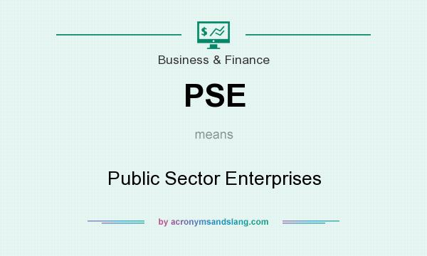 What does PSE mean? It stands for Public Sector Enterprises
