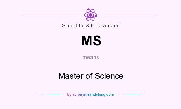 What does MS mean? It stands for Master of Science