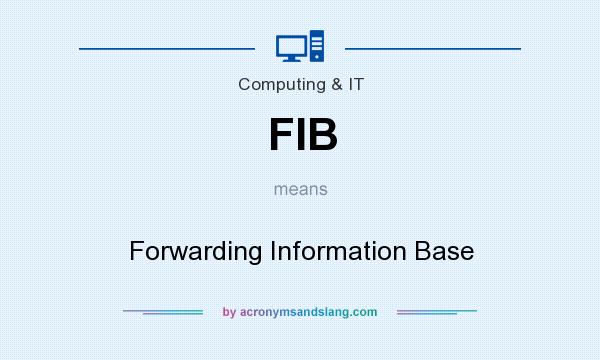 What does FIB mean? It stands for Forwarding Information Base