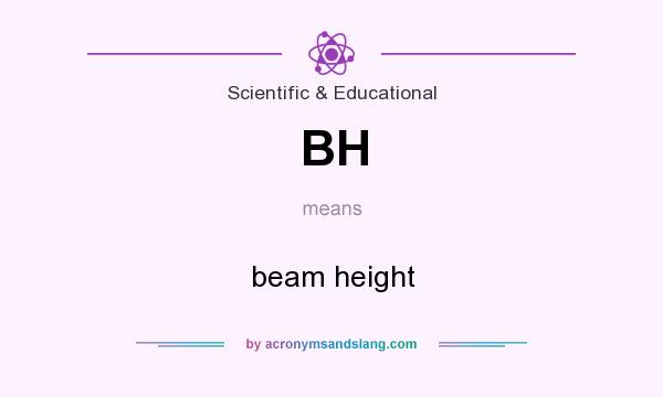 What does BH mean? It stands for beam height