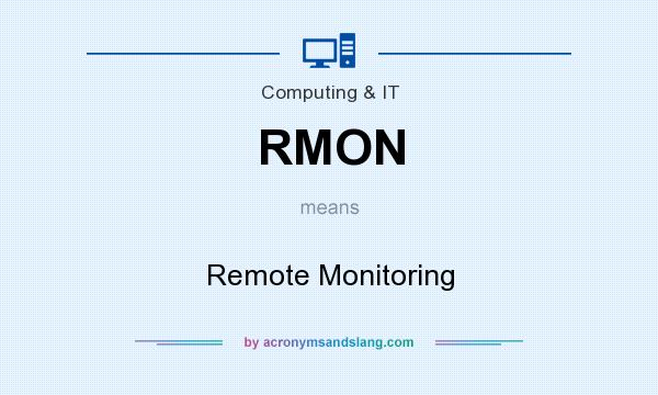 What does RMON mean? It stands for Remote Monitoring