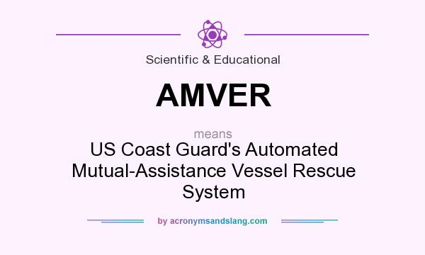 What does AMVER mean? It stands for US Coast Guard`s Automated Mutual-Assistance Vessel Rescue System