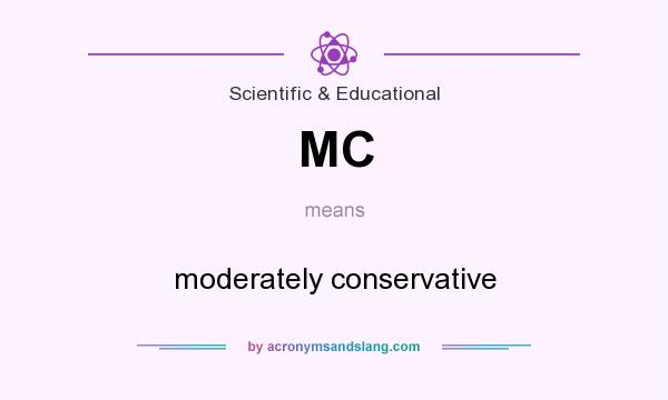 What does MC mean? It stands for moderately conservative
