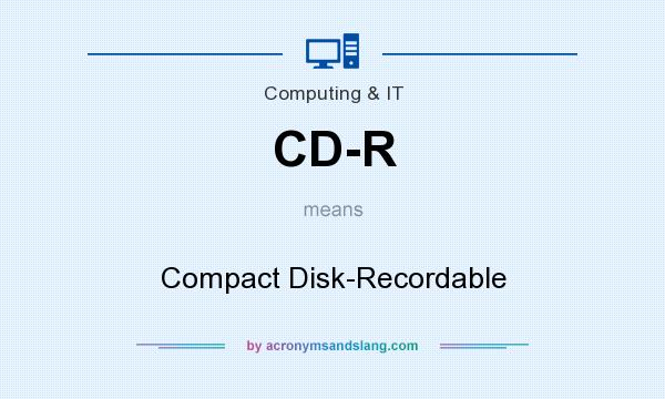What does CD-R mean? It stands for Compact Disk-Recordable
