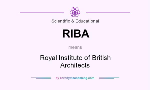 What does RIBA mean? It stands for Royal Institute of British Architects