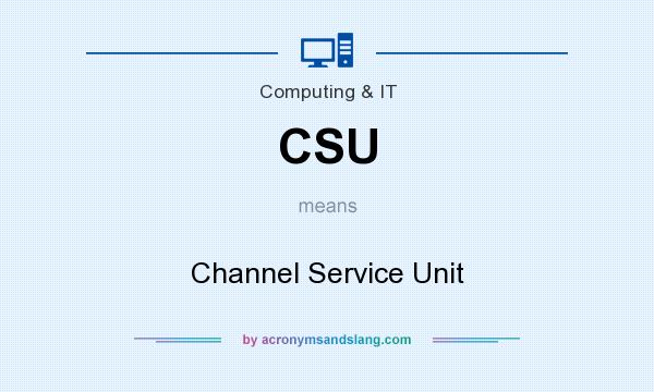 What does CSU mean? It stands for Channel Service Unit