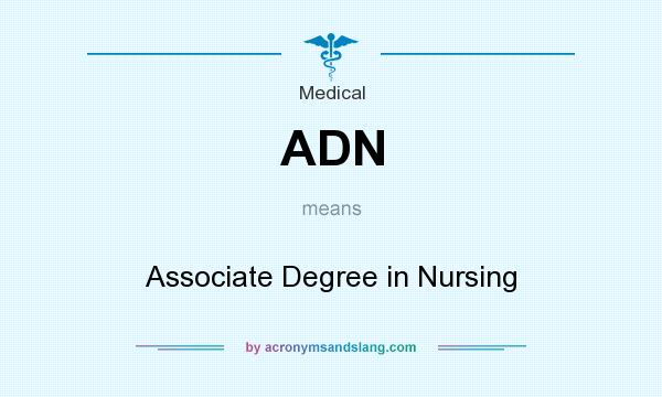 What does ADN mean? It stands for Associate Degree in Nursing