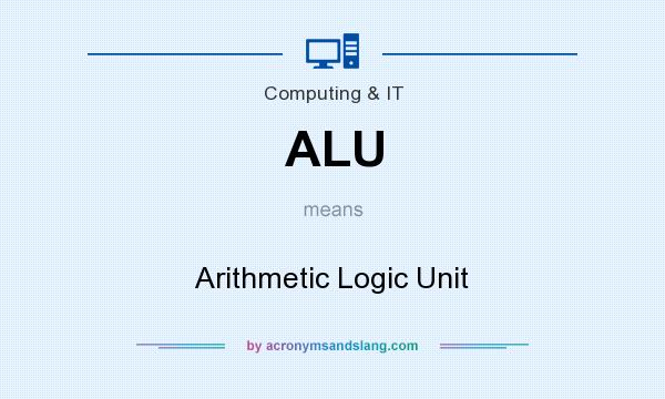 What does ALU mean? It stands for Arithmetic Logic Unit