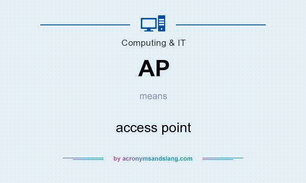 What does AP mean? It stands for access point