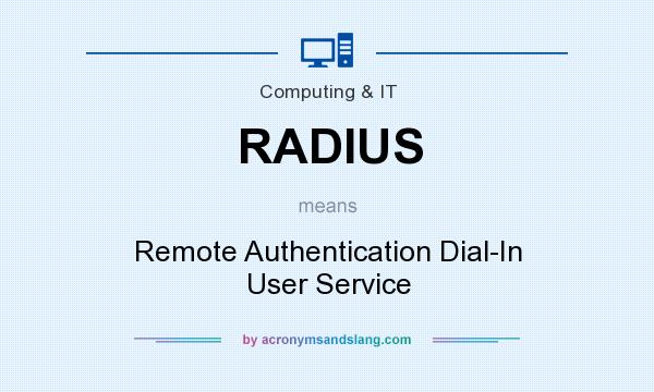 What does RADIUS mean? It stands for Remote Authentication Dial-In User Service
