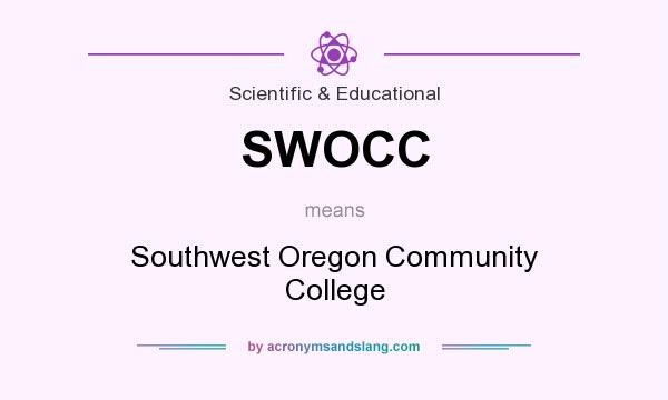 What does SWOCC mean? It stands for Southwest Oregon Community College