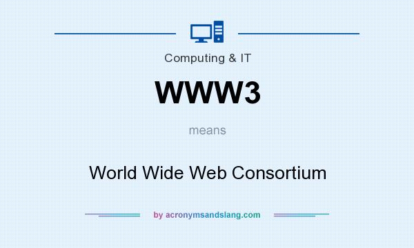What does WWW3 mean? It stands for World Wide Web Consortium