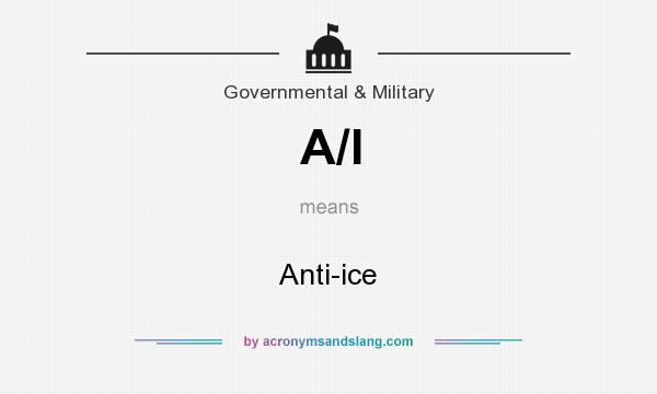 What does A/l mean? It stands for Anti-ice