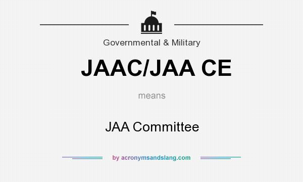 What does JAAC/JAA CE mean? It stands for JAA Committee