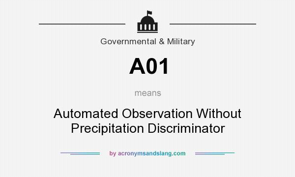 What does A01 mean? It stands for Automated Observation Without Precipitation Discriminator