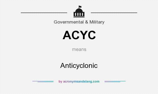 What does ACYC mean? It stands for Anticyclonic