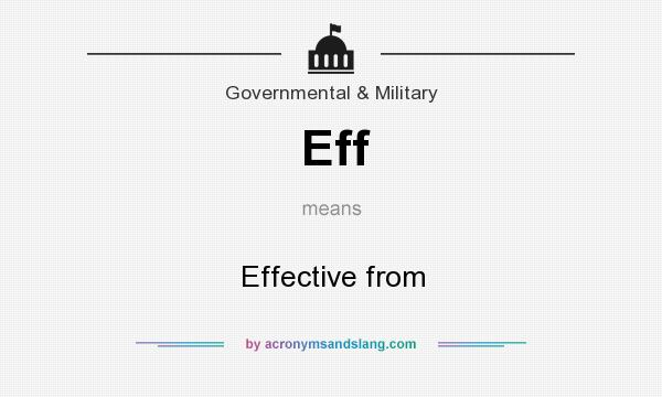 What does Eff mean? It stands for Effective from