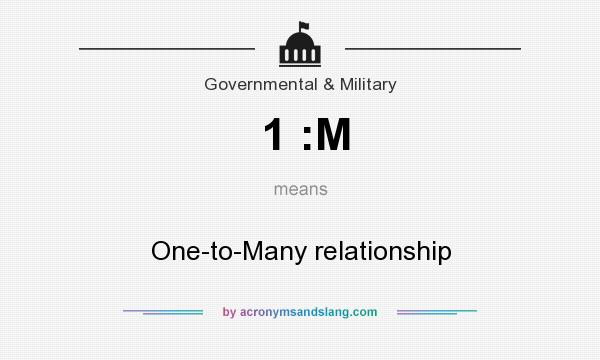 What does 1 :M mean? It stands for One-to-Many relationship