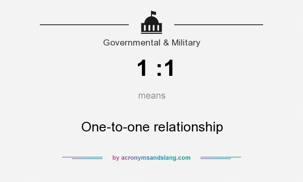 What does 1 :1 mean? It stands for One-to-one relationship