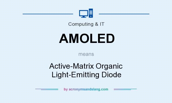 What does AMOLED mean? It stands for Active-Matrix Organic Light-Emitting Diode