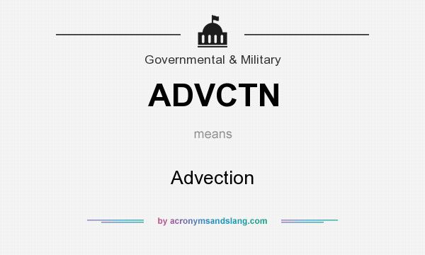 What does ADVCTN mean? It stands for Advection