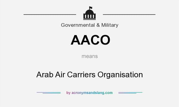 What does AACO mean? It stands for Arab Air Carriers Organisation