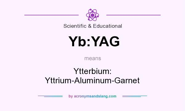 What does Yb:YAG mean? It stands for Ytterbium: Yttrium-Aluminum-Garnet