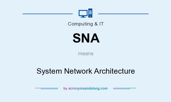 What does SNA mean? It stands for System Network Architecture